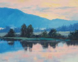Morning Light River by artsaus