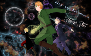 Hetalia Legends: Magic Trio by Shinigami-Spartan