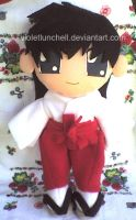 Inuyasha Kagome plushie by VioletLunchell