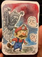 Mario! DON'T BLINK! by galvo