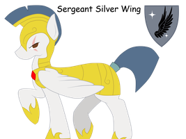 Sergeant Silver Wing Ref by Polkadot-Creeper