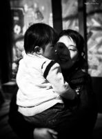chinese mom and her kid by PaalM