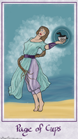 Marie Pythia: Page of Cups by Seraphim-Azriel