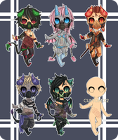 Masked Demons Adopts ( CLOSED! ) by Macchi-Tacchi