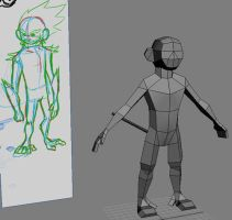 Trickster Model WIP by Inai10