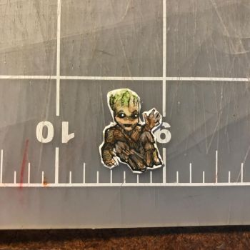 Baby Groot - terrarium necklace by kahahuna