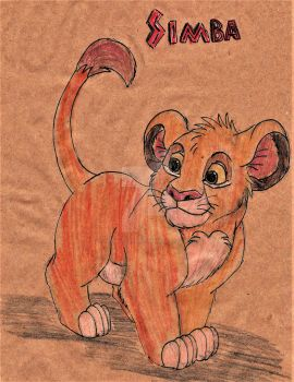 Simba from The Lion King by imaginativegenius099