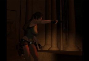 Lara Croft in the Temple (2) by bleinnie
