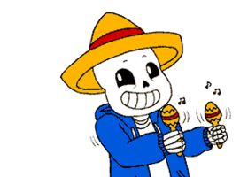 Undertale -Sans playing maracas (GIF) by silsado