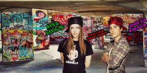 Avril Lavigne and Justin Bieber - Cover's Facebook by BrunaBiebsMalikSykes