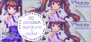 Pack 02 .psd: Signature + Avatar by DonaGreyback