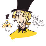 Bill Cipher Doodle by sparklemaster