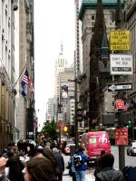 NEW YORK CITY-BUSY STREET by modaxxa