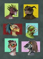 TESO inspired characters - adoptables by GalooGameLady