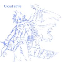 Final Fantasy, Cloud. by gkha