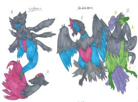 Hydreas and Ho-dreigon adopt commish -CLOSED- by LittleWhiteWolfAngel