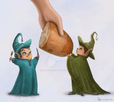 Elves and Bread by clementmeriguet