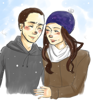 stallison in the snow by maybelletea