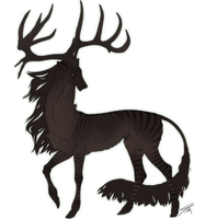 Alberich II Stag II Witch by billygoatsgruff