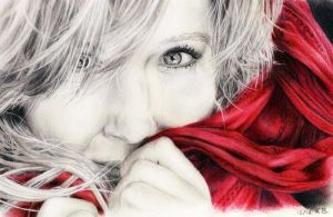 The red scarf by SitaraGirl