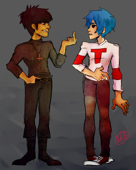 2D and Murdoc by AnalSaviorr