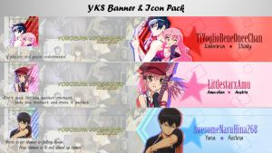 Anime Youtube banner Pack #1 by xMissEllax