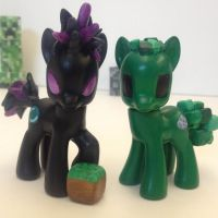 Minecraft Creeper and Enderpony by SetoSora