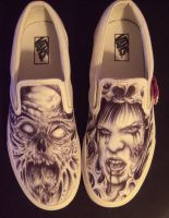 collaged shoes by hatefulss