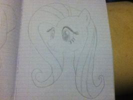 Fluttershy Sketch by TIB-The-Signless