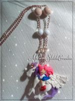 Chibiusa and Pegasus Necklace handmade polymer cla by DarkettinaMarienne
