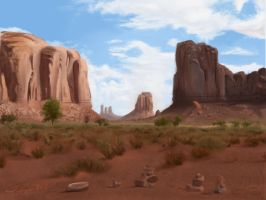 Another landscape study by Zeth-09