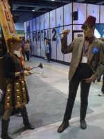 The Doctor and a Dalek by Kal-Reegar