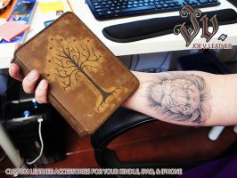 White Tree of Gondor Leather Cover for your Kindle by joevleather