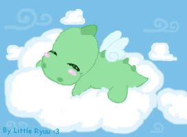 resting on a cloud by Libellulina