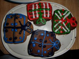 Christmas Present cookies 2012 by Kinetic-Passion