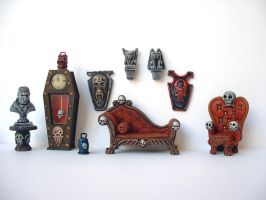Miniature Gothic Furniture by clevella