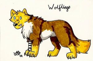 Chibi Stickers: Wolflings by BlueLumi