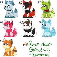 Canine Point Adoptables Batch 1 by Syco-Adopts