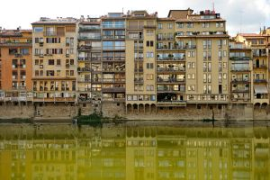 Buildings on the Arno - Florence by wildplaces