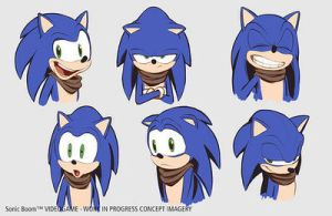 Sonic Boom concept art - Sonic by calculusmaster