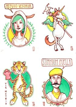 Artist Trading Cards by redsamala
