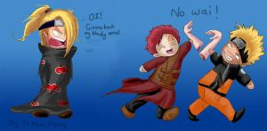 Deidara lost his arms by PsychicInTraining