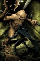 Batman vs Clayface colors by BESTrrr