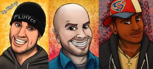 Cartoonified Youtubers by Greykitty