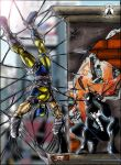 Spidey vs Wolverine by ssejllenrad2