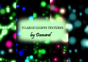 5 large lights textures by damerel