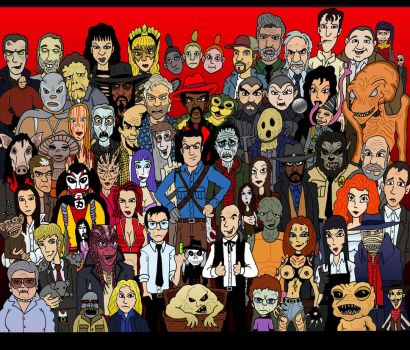 Heroes of Horror: Group Shot...The Horroes by Lordwormm