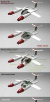Mixed powerplant L model aircraft by CUTANGUS