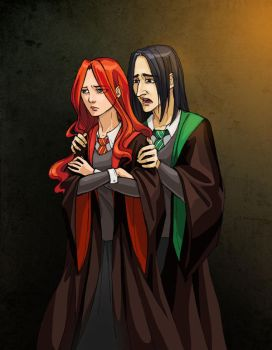 Harry Potter ~Snape and Lily by zarin-a