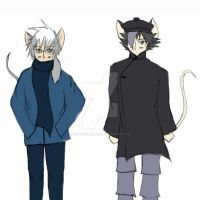 Hiro and Shen: Winter Outfit Ref by hiroyukibenjamin